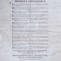 Dogme du philosophe Pierre Cally, Caen, 1671
