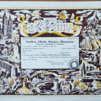 Certificat d'études primaires élémentaire ( 4 diplômes vierges)