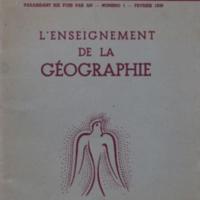 L'enseignement de la géographie